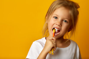 Child with good oral hygiene